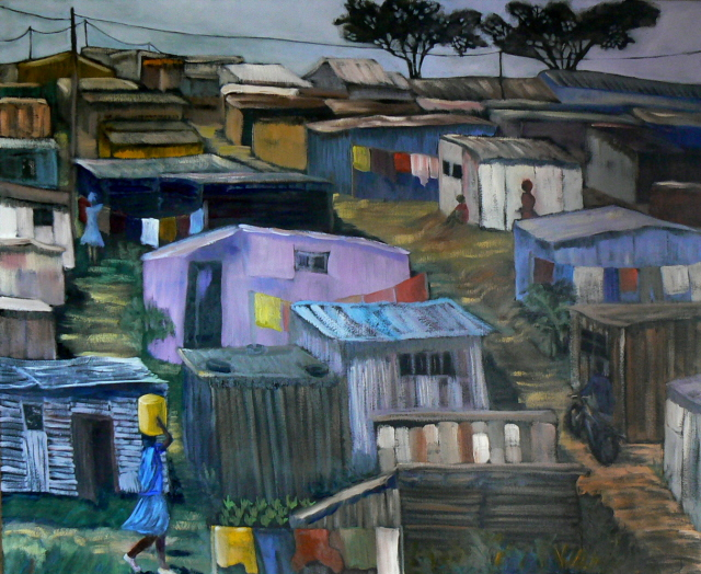 colourful township scene