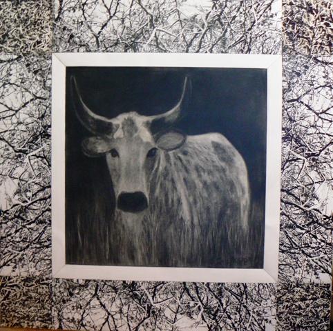 Cow in Kraal painting