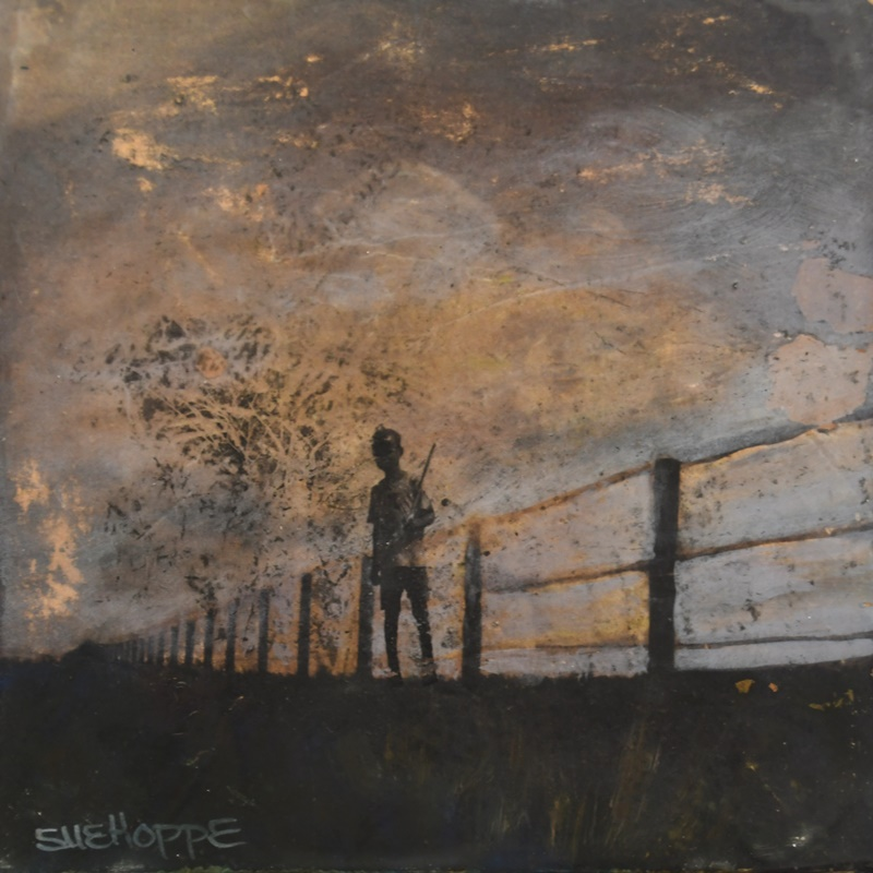 boy and fence