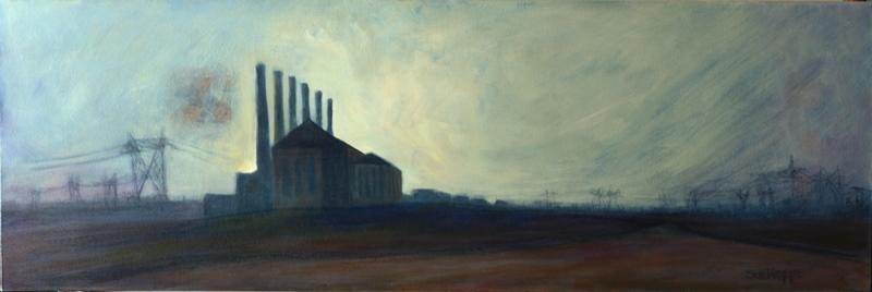 Powerless oil painting