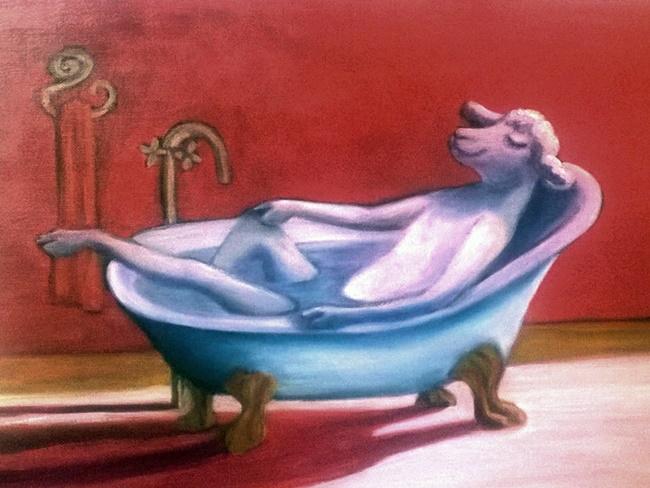 Sheep in the bath