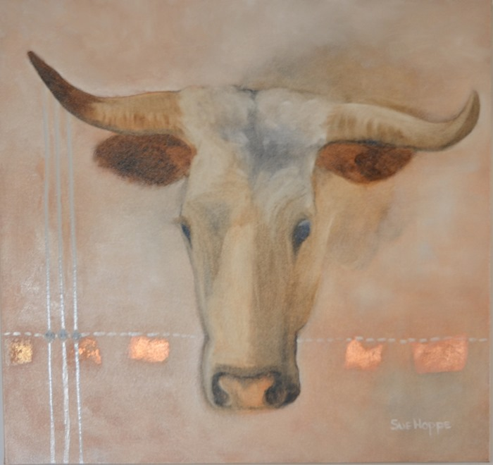 cow with gold leaf