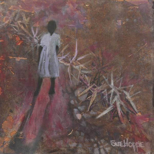 girl and thorns