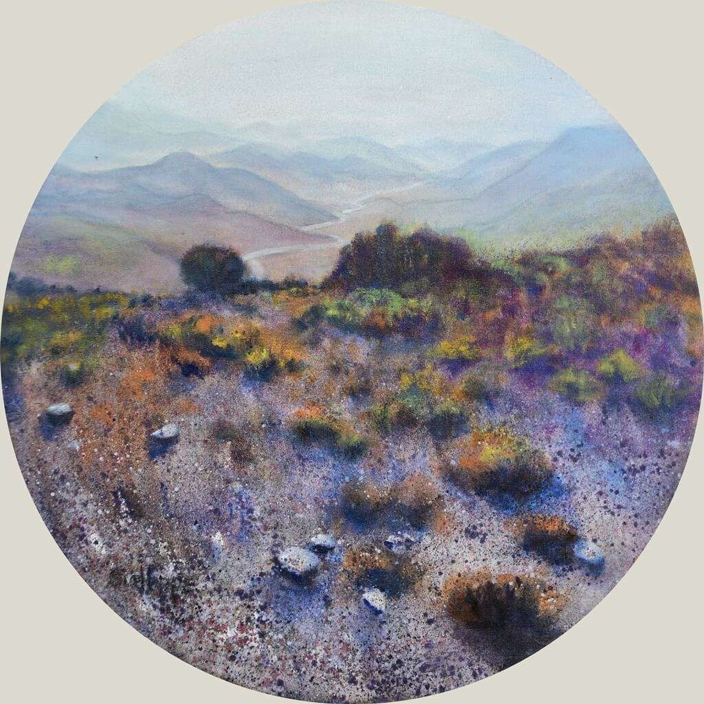 painting Karoo landscape with mountains