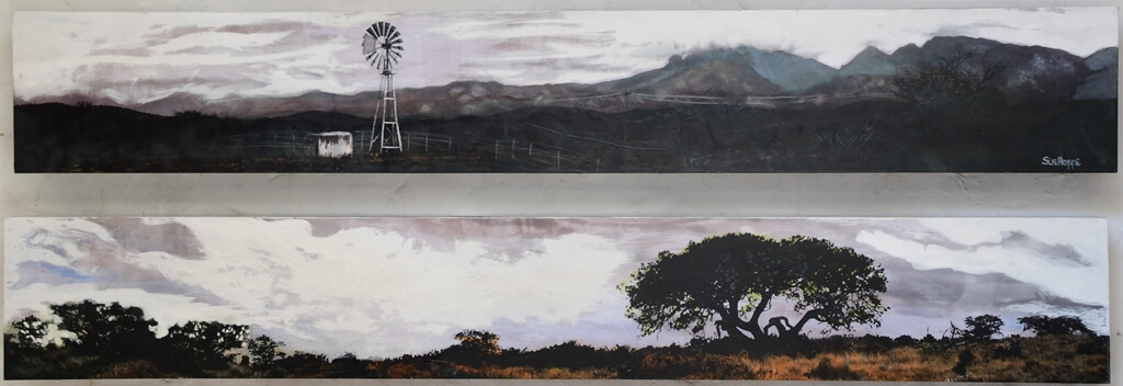 windmill and tree landscape