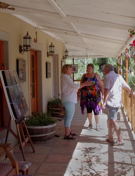 Sue welcomes visitors to her studio